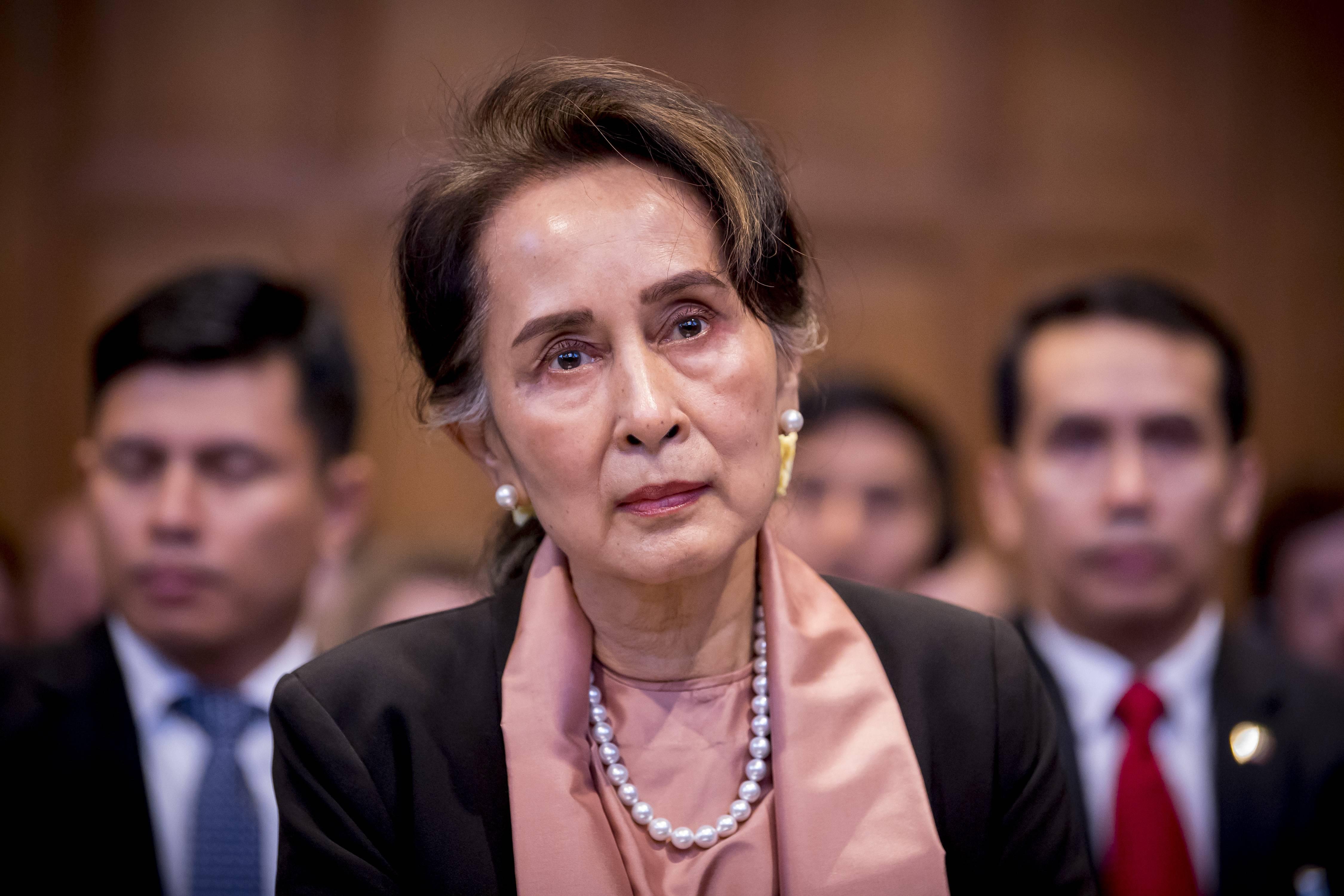 Aung San Suu Kyi i Haag