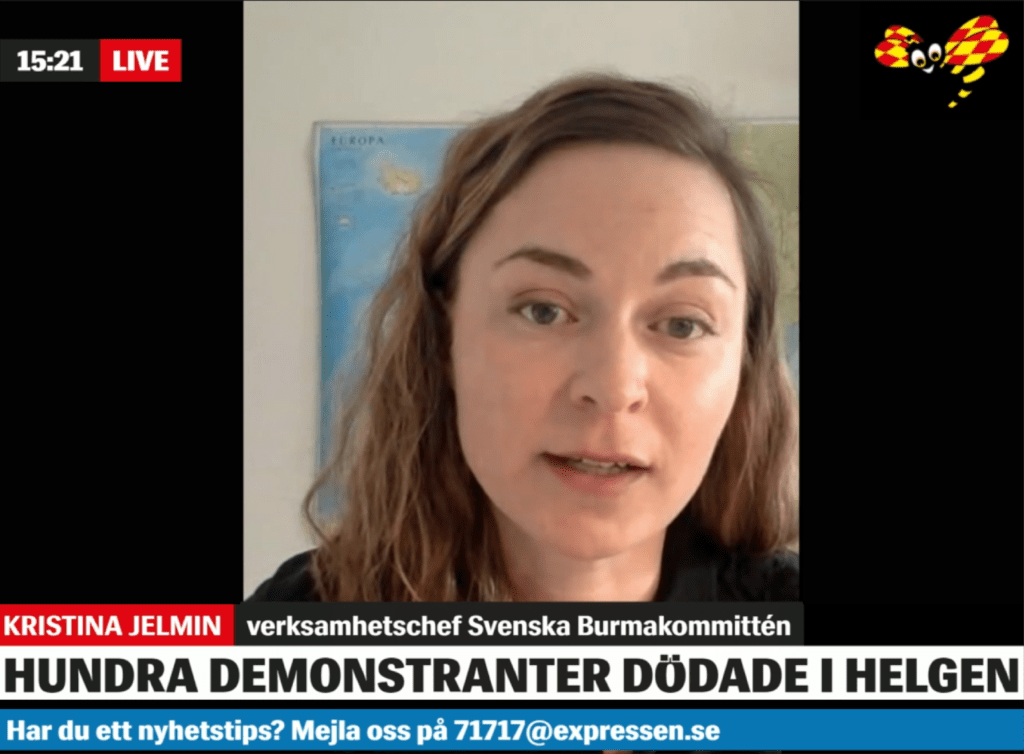 Kristina Jelmin i Expressen TV